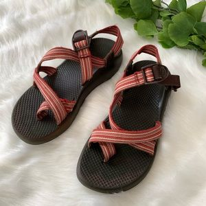 Chacos | Women's Red Striped Sandals Size 8 Shoes